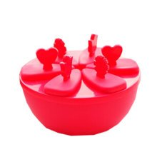 """Creative Top Quality Ice Cube Molds No Spill Round DIY Tray 5.5"""" Red"""