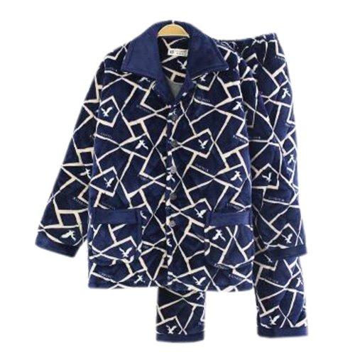 Men Pajamas Warm Thick Cotton Modern Set Sleepwear/Nightwear Clothes for Home, #No.3