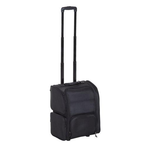 HOMCOM Make-up Bag, 37Lx25Dx48H cm-Black