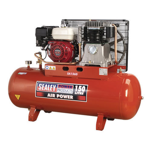 Sealey SA1565 150ltr Belt Drive Compressor with Petrol Engine 6.5hp