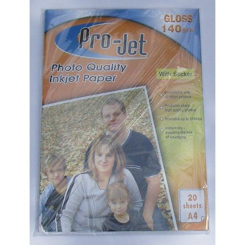 Projet A4 140gsm Sticky Back Gloss Photo Paper (Self Adhesive Back)
