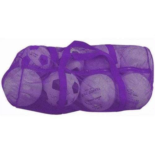 Olympia Sports BC088P 36 in. x 15 in. Zippered Mesh Bag - Purple