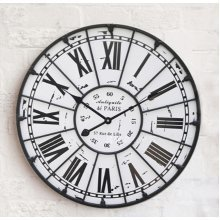 GoedYE large metal_mdf wall clock 60cm- Roma