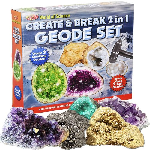 2 in 1 Create And Break Your Own Geode Set World Of Science Kit Kids Craft Toy