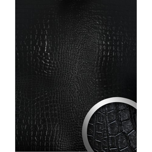 WallFace 13826 CROCONOVA Wall panel textured luxury decor magic black 2.60 sqm