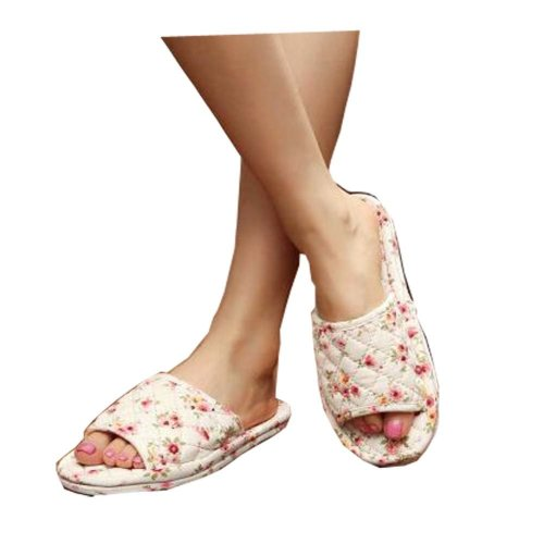Beautiful Flowers Style Slippers Elegant Ladies Slippers