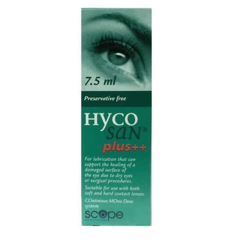 Hycosan Plus++ Eye Drops 7.5ml Preservative Free