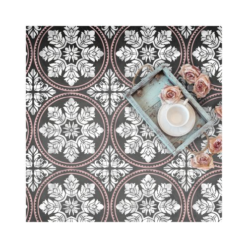 Edessa Tile Wall Furniture Floor Stencil for Painting
