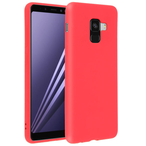 sale retailer 504ce c0d92 Forcell case for Samsung Galaxy A8 Plus, soft touch cover, silicone case  – Red