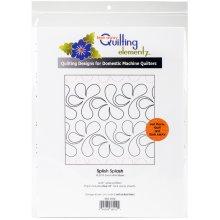 "Quilting Creations Printed Tear Away Quilting Paper 4/Pkg-Splish Splash 4.25"""