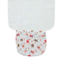 Set of 3 Small Size Pink Rabbit Baby Sweat Absorbent Towels, 25.5x20 cm