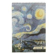[Large Size] Practical Spiral Binding Artist Sketchbook Painting Book #01
