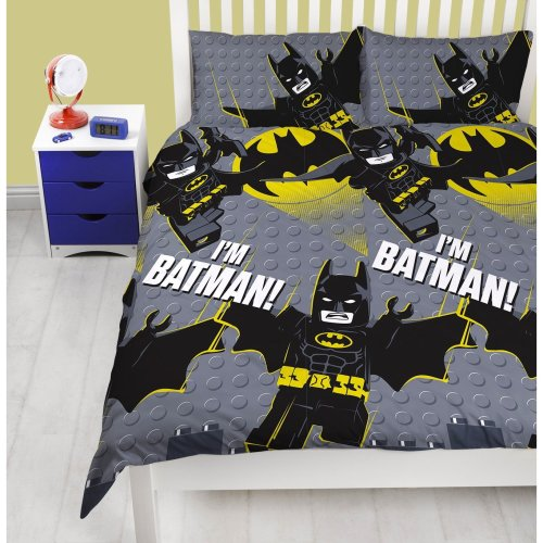 The Lego Batman Movie 'I'm Batman' DOUBLE Duvet Cover Bed Set