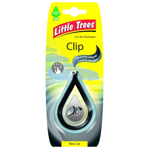 Little Trees LTC003 Clip - Air Freshener - New Car Fragrance - yellow, 1 unit