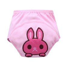 2 PCS Pink Color Rabbit Cartoon Cotton Material Baby Diapers