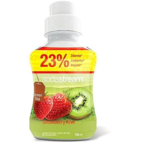 Sodastream Concentrate Syrup 750ml. Green Tea Strawberry Kiwi