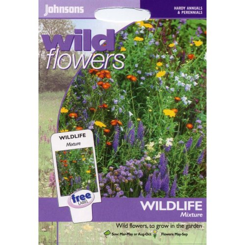 Johnsons Seeds - Pictorial Pack - Flower - Wildflower Wildlife Mixture