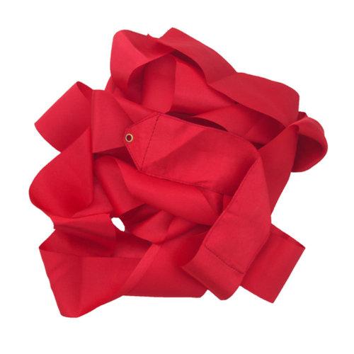 Gym Dance Ribbon Rhythmic Art Gymnastic Streamer Twirling Rod Stick Red