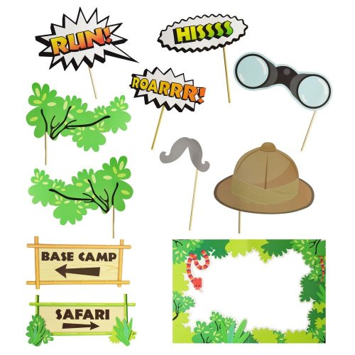 Amscan Jungle Friends Animal Photo Booth Props Kit