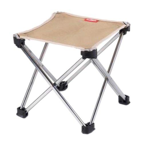 Portable Folding Chair Stool Camping Chairs Fishing Train Travel Paint Outdoor, Medium Khaki