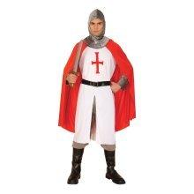 Extra Large Menu0027s Knight Crusader Costume   Medieval Fancy Dress Mens  George   Knight Medieval Fancy Dress Crusader Costume Mens George Outfit  Adult