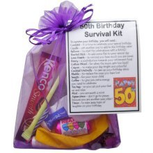 50th Birthday Survival Kit Gift | 50th Birthday Card Alternative
