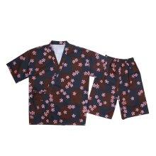 Loose Home Wear Cotton Short Pajamas Suit Kimono Style Pajamas Loungewear