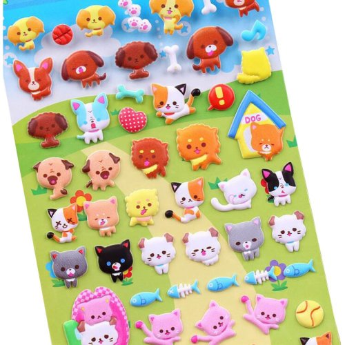 5 Sheets Funny Cartoon Stickers Children Decorative Toys[B]