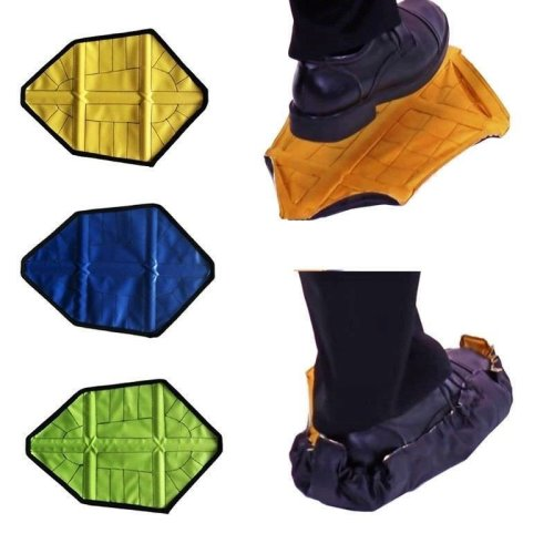 1 Pair Reusable Automatic Overshoe Shoe Covers Hand Free AUTO Package