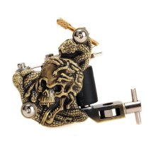 Cool Skull Snake Casting Tattoo Machine High Stability Low Noise 10 Warps Coils 7000-9000 R/Minute