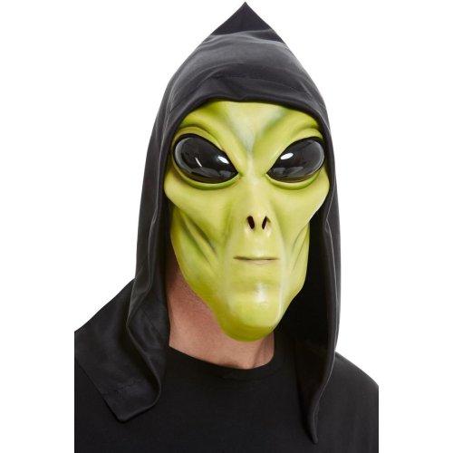 Green Latex Alien Face Mask Fancy Dress Accessory