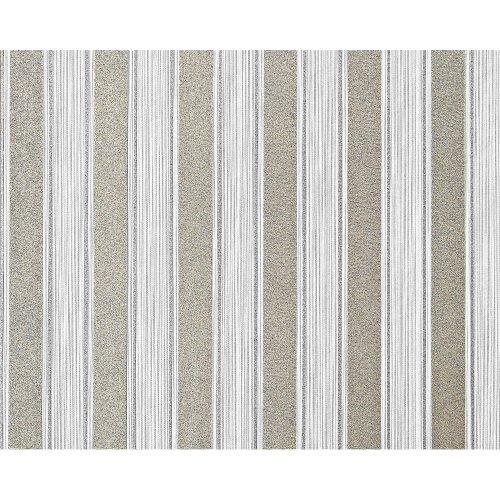 EDEM 658-90 non-woven block stripes wallpaper XXL white grey glitter 10.65 sqm