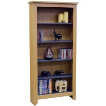 MANHATTAN - 343 CD / 175 DVD / Blu-ray / Media Storage Shelves - Beech