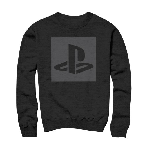 PlayStation Logo Cut Out Black Sweater