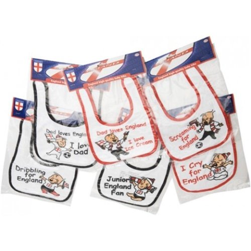 Pms England World Cup Baby Bib *supplied At Random* - 2 Bibs Included