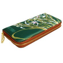 Chinese Style Characteristic Purse Silk Pouch Wallet Bag Perfect Gift, D