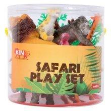Safari Animal Plastic Figure Play Set of 7 Large & Varied Animals - BNIB