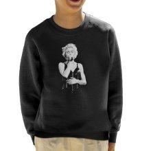 Madonna Whos That Girl World Tour Wembley 1987 Kid's Sweatshirt