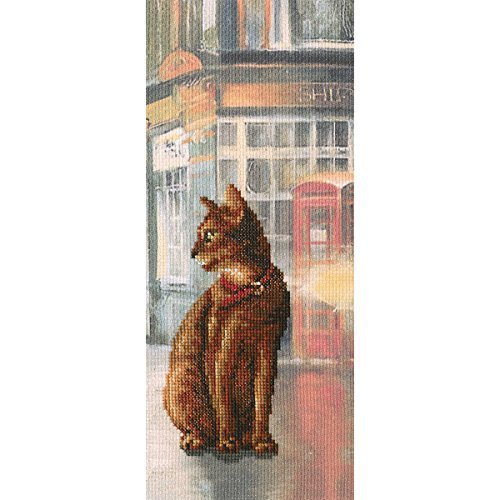 """Cats In Town I Counted Cross Stitch Kit-4.5""""X10.75"""" 14 Count"""