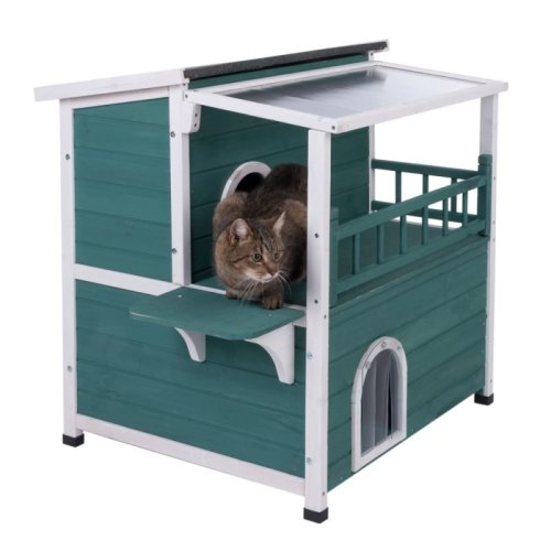 Large Cat House with Sunroof Outdoor Weatherproof Indoor