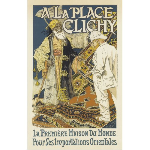 Advertising poster - A la Place Clichy - High definition printing on stainless steel plate