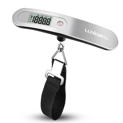 Luxebell® Portable Digital LCD Handheld Luggage Scale Black Gadget Weighing Suitcase 110lbs Pounds