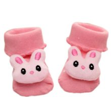 3 Pairs Non-slip Newborn Baby Toddler Socks Comfortable Warm Stockings Baby Birthday Gift For 6-12 month-A04