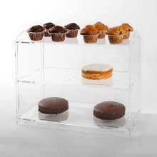 2-Tier Acrylic Cake Case | Double Layer Bakery Display Stand