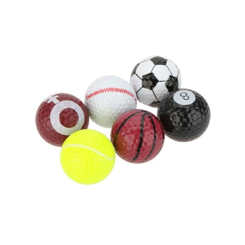 Novelty Golf Balls Pack of 6