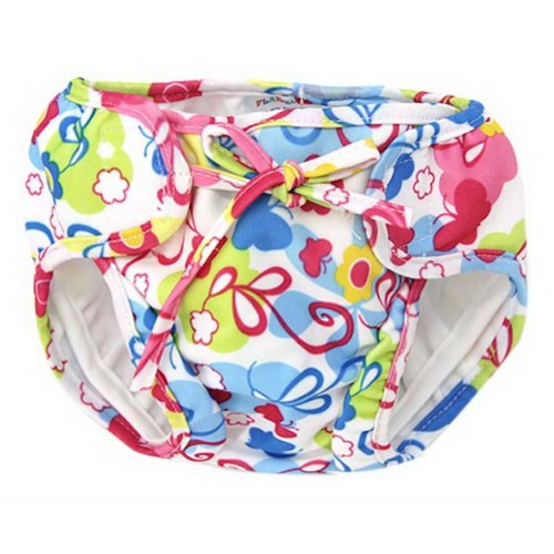 Baby Swim Trunks 0-3 Infants Lovely Swimsuit Leakproof Swim Shorts, Small Floral