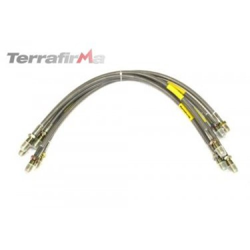 Terrafirma TF611 Std Stainless Steel Braided Hoses Classic Rr Non Abs Range Rove