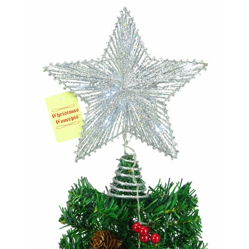 """10"""" Springy Star With White Led Lights - Christmas Tree Top Star / Christmas Decoration"""