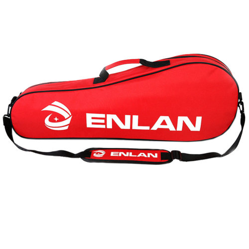 Large Capacity Sling Bag Racquet Bag Waterproof Badminton Racket Cover, Red