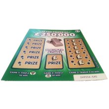 1 x Green Fake Joke Scratch Card